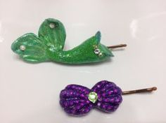 The Little Mermaid inspired hair pins by futurebelle26