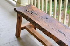 This unique rustic bench is made out of reclaimed wood and has a beautiful live edge. The natural beauty of the wood is protected with a clear polyurethane. This bench makes the perfect addition to your entryway, porch, dining set or at the end of your bed. The bench measures 60L x 11 1/2W x 17H This bench is ready to ship / deliver / be picked up. DELIVERY / SHIPPING - IMPORTANT!: Please message us before ordering to discuss pickup/delivery/shipping options. Free delivery within 50 miles of…