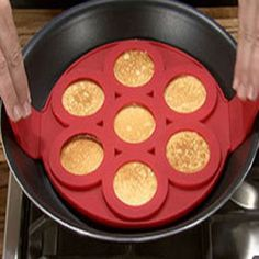 7 Cavity Flippin' Nonstick Pancake Maker Perfect Egg Omelets Hash Browns Pancakes Fantastic Silicone Pancake Mold Pastry Tools