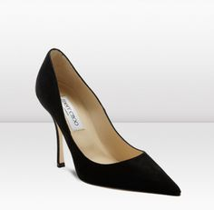 Jimmy Choo black suede pumps. Lovely with a pencil skirt and fitted cardigan.