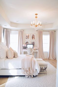 Home Decoration Ideas Images Room Ideas Bedroom, Home Decor Bedroom, Decor Room, Master Bed Room Ideas, Chic Apartment Decor, French Bedroom Decor, Parisian Bedroom, Pink Home Decor, French Home Decor