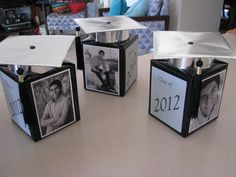 I think these would be neat for my daughters tables for her graduation reception. personalized grad party centerpieces--out of tissue boxes! Graduation Party Centerpieces, Graduation Party Planning, College Graduation Parties, Graduation Celebration, Graduation Decorations, Graduation Party Decor, Graduation Photos, Grad Parties, Graduation Ideas