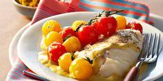 Colombo de morue et tomates cerises