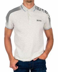 Camisa Polo, Mens Polo T Shirts, Polo Shirt, Hugo Boss Tracksuit, Hugo Boss Clothing, Types Of Trousers, Hugo Boss Jeans, Polo Design, Men's Polo