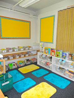 Tales from a Second Year Teacher: Classroom Library bathmats! how cool!