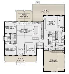 Small House Floor Plans, Home Design Floor Plans, Family House Plans, Barn House Plans, New House Plans, Dream House Plans, Modern Farmhouse Plans, Farmhouse Style, House Blueprints