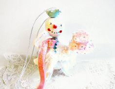 Snowman Lady Ornament // Handmade Christmas by BloomingGoddess, $29.99