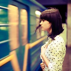 Metro by oprisco, via Flickr. Can't help thinking she's about to jump, from the way she's standing...  _____________________________ Bildgestalter http://www.bildgestalter.net