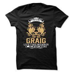 GRAIG . Team GRAIG Lifetime member Legend  - T Shirt, Hoodie, Hoodies, Year,Name, Birthday  #GRAIG. Get now ==> https://www.sunfrog.com/GRAIG-Team-GRAIG-Lifetime-member-Legend--T-Shirt-Hoodie-Hoodies-YearName-Birthday.html?74430