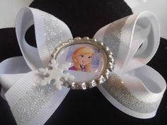 Princess Elsa and Anna Hair Bow inspired by Disneys Frozen
