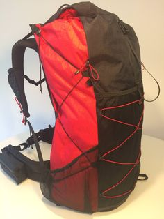 Click this image to show the full-size version. Homemade Backpack, Ultralight Backpacking, Belt Pouch, Designer Backpacks, Leather Working, Golf Bags, Project Ideas, Sewing Projects, Backpacks