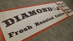 Keep an eye out for these banners so you can try Diamond J Coffee at the Surrey Night Market.