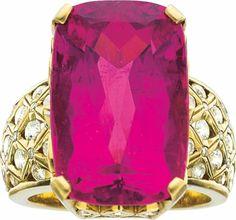 Estate Jewelry:Rings, Tourmaline, Diamond, Gold Ring, Fairchild. ... 58036