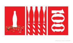 100 Years of the Coca-Cola Contour Bottle posters. Designed by Turner Duckworth.