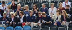 The Royal Family cheering on Zara Phillips