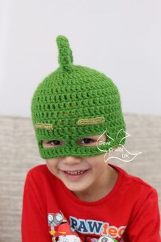 My little boy has just caught up with the PJ Masks craze and he loves them! I wanted to make him some mask-hats, so I have written patterns for Gekko, Owlette and Catboy, which are all available for free on Ravelry (see my patterns).