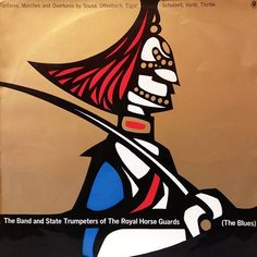 The Band and State Trumpeters of the Royal Horse Guards (The Blues) - Fanfares, marches and overtures by Sousa, Offenbach, Elgar, Schubert, Verdi, Thirtle.Cover art by John Copeland.