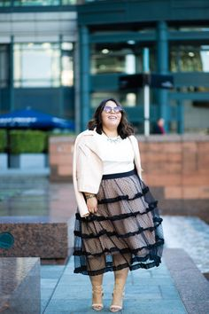 I think I need this lace skirt...   8 Awe-Inspiring Reasons to Wear Lace In The Fall and Where to Find It! http://thecurvyfashionista.com/2016/11/plus-size-lace-fall/