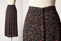 1990s Skirt  // Vintage Skirt // 90s Floral by vintagesalvation, $25.00