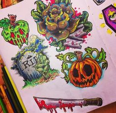 Im thinking a small halloween tattoo to show my love for the supernatural. Future Tattoos, Love Tattoos, Body Art Tattoos, New Tattoos, Tatoos, Ship Tattoos, Ankle Tattoos, Black Tattoos, Flash Art Tattoos