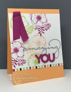 Amazing You, Celebration You Thinlits, Sale-a-Bration, Stampin' Up!, BJ Peters, #stampinBJ.com,