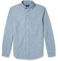 Polo Ralph Lauren - Slim-Fit Washed Chambray Shirt|MR PORTER