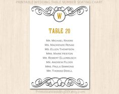 Modern Rustic Wedding Table Seating Chart Template List Poster You Edit The Text Fs11
