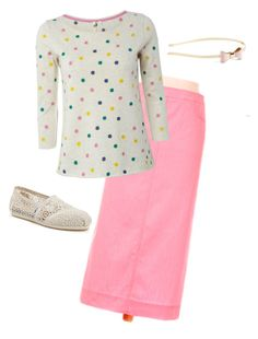 """""""Bubble Gum"""" by breanna-buchenroth ❤ liked on Polyvore featuring White Stuff, TOMS and L. Erickson"""