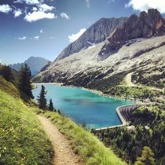 La Marmolada e il Lago di #Fedaia (Trentino), Italy