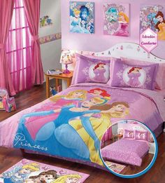 Disney princess bedroom(: Makes me think of my sweet Willa Ruth<3