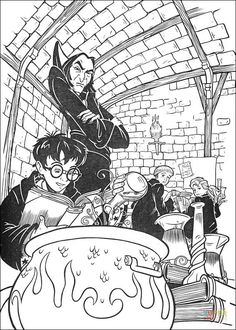 Harry Learns Magic Formula coloring page | Free Printable Coloring ...