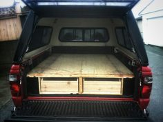 Hand made truck bed.  Ready to travel.