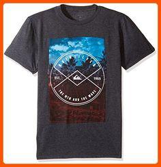 Quiksilver Men's Short Sleeve Logo T-Shirt, Hide Place Charcoal Heather, Large Mens Clothing Brands, Men's Clothing, Hidden Places, Branded T Shirts, Fashion Brands, Charcoal, Logo, Amazon, Sleeve