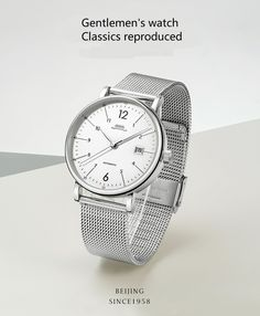 Beijing classic series automatic wristwatch and Affordable Watches, Classic Series, Beijing, Crystals, Silver, Leather, Accessories, Pekin Chicken, Crystal