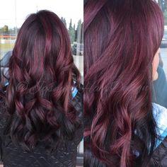Wine, red Plum, berry, fall haircolor. Pretty long hair Instagram @jasminshairdesign
