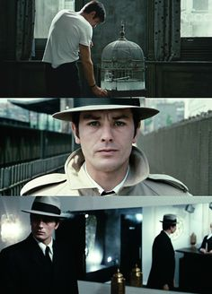 alain delon as jef in le samouraï, jean-pierre melville 1967.