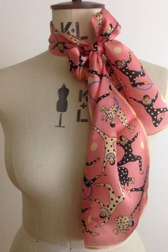 Karen Mabon Clowning Around silk scarf | Godiva Boutique