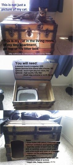 If i had a cat. 27 Useful DIY Solutions For Hiding The Litter Box  Cats are the best, but living with a litter box isn't exactly an aesthete's drea…