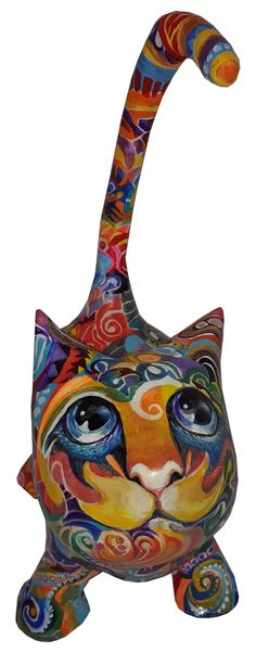 rina's cat Paper Mache Sculpture, Sculptures, Worship, Porcelain, Clay, Crafts, Inspiration, Manualidades, Paper Mache