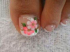 17 Ideas french pedicure designs toenails pretty toes for 2019 French Manicure Toes, French Pedicure Designs, Pedicure Nail Art, Toe Nail Designs, Toe Nail Art, Pedicure Ideas, Flower Designs For Nails, Nails Design, Cute Toe Nails