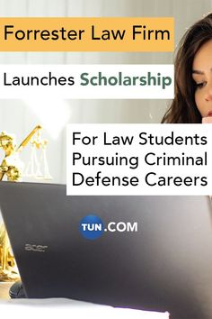 Click to apply for the Forrester Law Firm Women in Criminal Defense Scholarship!