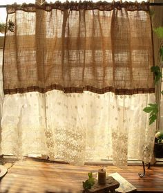 Custom Shabby French Country Chic  Burlap by BetterhomeLiving