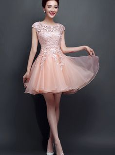 Blush Pink Homecoming Dress,Homecoming Dresses,Homecoming Gowns,Short Prom Gown,Blush