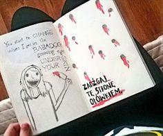 Podesłała Agnieszka Wojtas #zniszcztendziennikwszedzie #zniszcztendziennik #kerismith #wreckthisjournal #book #ksiazka #KreatywnaDestrukcja #DIY