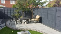 43 Attractive Enclosed Garden 43 Attractive Enclosed Garden Grey Fence Using Cuprinol Urban Slatehad Doubts To Begin With But Garden Paving, Garden Fencing, Grey Fence Paint, Cuprinol Urban Slate, Cuprinol Garden Shades, Grey Fences, Garden Makeover, Grey Gardens, Garden Cottage