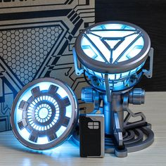 35.49US $ 9% OFF Avenger Mk43 MK6 Arc Reactor with LED Light Tony Stark Arc Reactor reactor arc reactor arc iron manreactor light - AliExpress