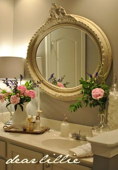 DIY:: Cottage Styled Bathroom Do It Yourself Updates and Ideas by Dear Lillie