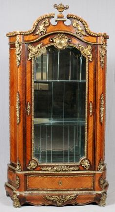 FRENCH LOUIS XVI ROSEWOOD INLAID VITRINE CABINET : Lot 32187
