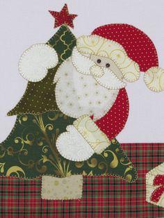 Christmas Applique, Crochet Christmas Ornaments, Christmas Wood, Christmas Stockings, Mug Rug Patterns, Quilt Patterns, Christmas Crafts, Christmas Decorations, Christmas Wall Hangings