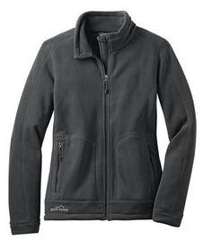 Eddie Bauer - Ladies Wind Resistant Full-Zip Fleece Jacket Style EB231 Iron Gate Flat Front